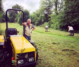 Meadow Management, credit Mendip Hills AONB