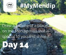Draw a place that is special to you on Mendip