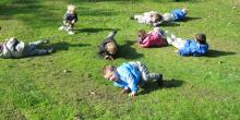 Children exploring nature